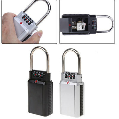 Zinc Alloy 4 Digit Combination Password Key Storage Lock Box Organizer Security