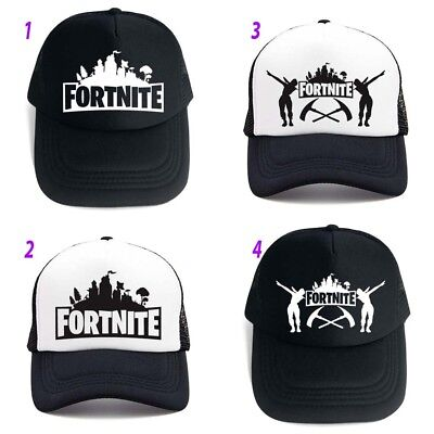 Ftnite game cap Kids Boys black and white Mash Hip Hop Cap Hat xmas gift