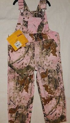 Bib Overalls Cabelas 4T Pink Brown Camo Zonz Woodlands Infant Toddler Girls New