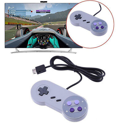 Wired Controller Game Pad Joystick For Nintendo SNES Super PC Mac Wii Console