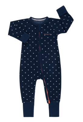 Bonds Baby Poodlette Long Sleeve Zip Wondersuit Romper sizes 00 0 1 2 3 Navy
