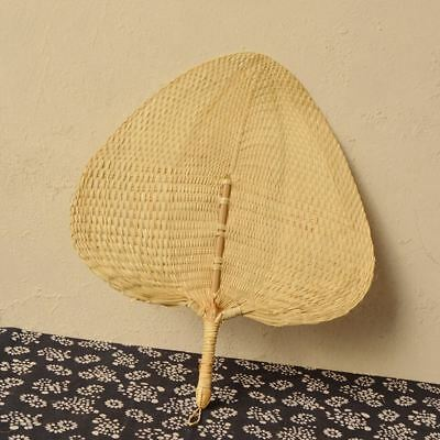 Natural Handheld Fans Handmade Woven Palm-leaf Fan Cool Home for Summer