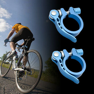 2X Bike Bicycle Cycle MTB Quick Release Seat Post Seatpost Clamp 31.8mm 34.9mm