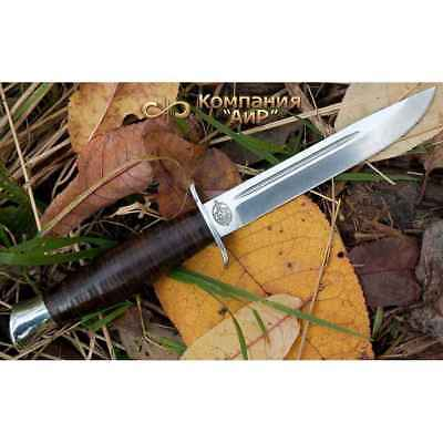 Zlatoust A&R Finka, 95x18 GOST stainless steel, Leather handle