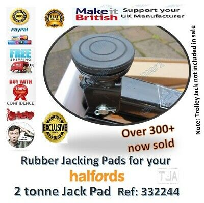 For Halfords 2 tonne ton hydraulic Trolley Rubber jacking Pad Jack tool classic