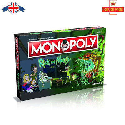 Rick and Morty Monopoly Board Game***NEW*** Free Shipping UK