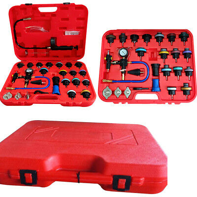 27PCS Radiator Pressure Tester Vacuum-Type Cooling System Refill Kit W/Case New