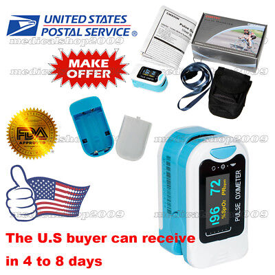 US Seller,Finger Pulse Oximeter,SPO2 Blood Oxygen Monitor,Pulse Heart Rate Meter