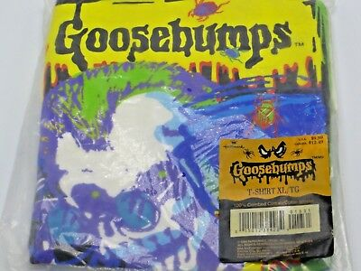 HALLMARK Goosebumps T shirt XL You Can't Scare Me 1995 R L Stine Halloween VTG