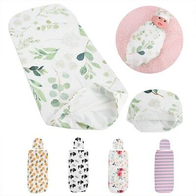 Baby Wrap Sleeping Bag with Hat Anti-shock Soft Skin-friendly Clothes for Infant