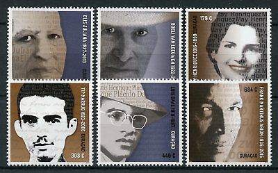 Curacao 2017 MNH Writers Frank Martinus Arion Luis Daal 6v Set Literature Stamps