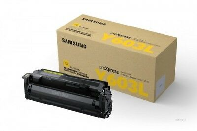 Samsung CLT-Y603L Genuine Yellow [10K Page] High-Capacity Toner Cartridge