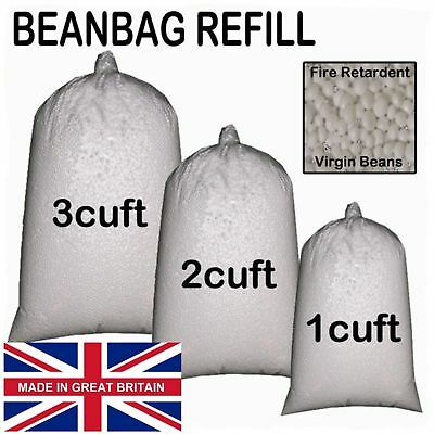 Booster Refill Polystyrene beanbag Beads Balls Filling Top Up 1 to 10 Cubic Feet