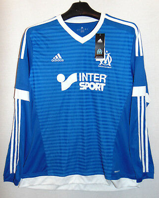 Marseille 2015-16 Football Shirt Jersey Adidas Bnwt Xl Extra Large Mens France