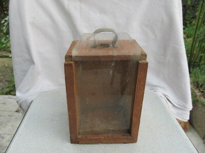 Antique Very Rare Old Wooden Candlestick Candle Holder Lantern