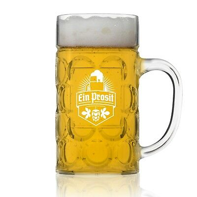 Unbreakable .5L Oktoberfest German Beer Mug with Handle (22 oz.) Classic Germ...