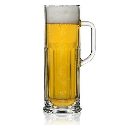 Nucleated Oktoberfest German Beer Mug with Handle (21 oz.) Elongated Stein wi...