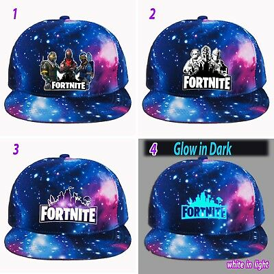 ftnite baseball cap game Kids Boys girls battle royale gaming logo glow in dark
