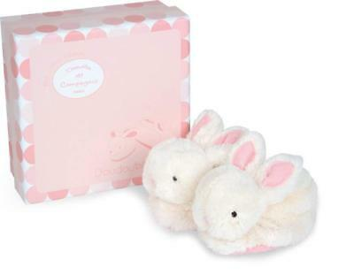 Doudou et Compagnie DC1308 Pink Lapin Bonbon Botties with Rattle (0-6 Months)