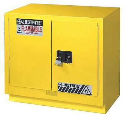 Flammable Safety Cabinet,23 Gal.,Yellow JUSTRITE 883600