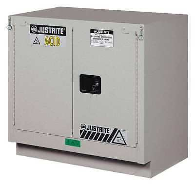 Corrosive Safety Cabinet,23 gal.,Silver JUSTRITE 8837242