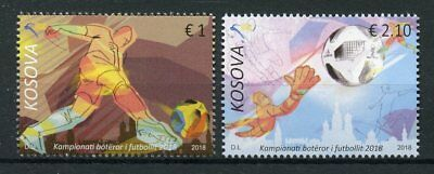 Kosovo 2018 MNH World Cup Football Russia 2018 2v Set Soccer Sports Stamps