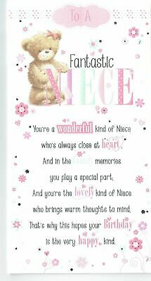 Niece Birthday Card With Sentiment Verse Pop Out Centre 1 89