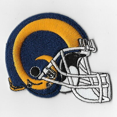 Los Angeles Rams Iron on Patch Embroidered Patches Applique Badge Helmet Gold FA