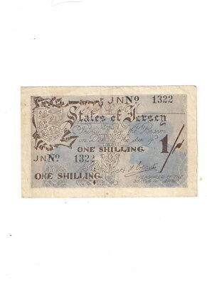 Jersey , 1 shilling 1942 , sehr selten