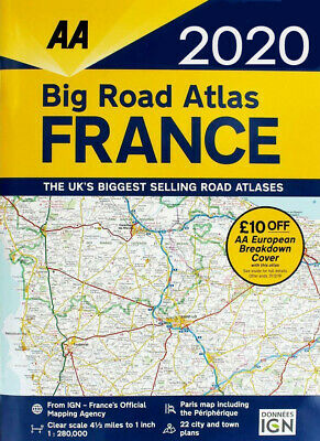 AA Big Road Atlas Map France 2019 Latest Edition (79685)