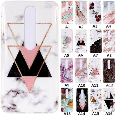 For Nokia 7 Plus/6.1(Nokia 6 2018) Marble Pattern Soft Silicone Phone Case Cover