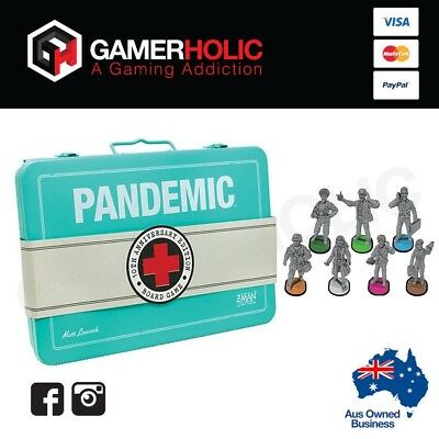 Pandemic 10th Anniversary Edition Board Game w/ Promo Painted Figures
