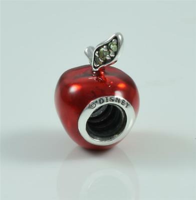 New Genuine Pandora Silver Disney Snow White's Apple Charm Bead 791572EN73
