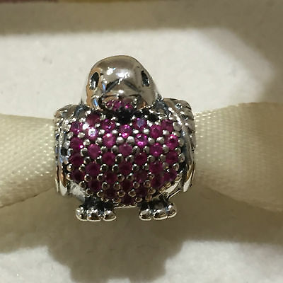 New Authentic Genuine Silver Pandora Red Robin Charm 791731CZR