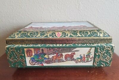 Vintage 1985 E. Otto Schmidt Lebkuche Honig Biscuit Cookie Tin Made in Germany