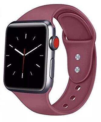 Sport Band Compatible Apple Watch 42mm M/L -Wine Red - New-Factory Sealed