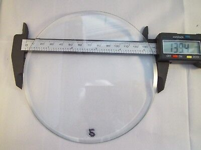 "Replacement bevelled Flat Clock Dial Glass 139.4mm(5 5/10"") diameter 3mm Thick"