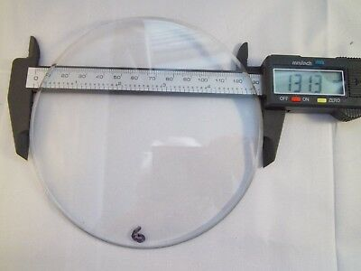 "Replacement bevelled Flat Clock Dial Glass 131.4mm(5 2/10"") diameter 3.5mm Thick"