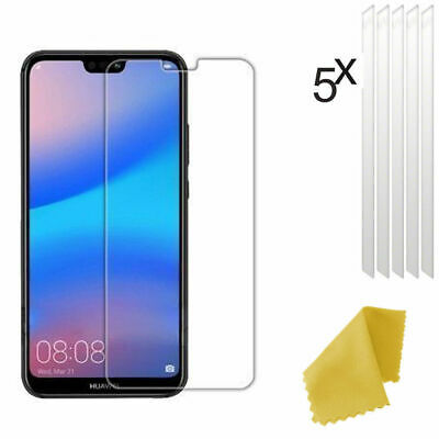 5 X Clear Plastic Screen Guard LCD Protector Film For Huawei P20 Lite