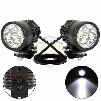 40W 6LED 4000LM White Universal Motorcycle Fog Spot Light Healight For Suzuki