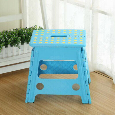 Multi Purpose Plastic Folding Step Stool Heavy Duty Ladder Foldable Seat