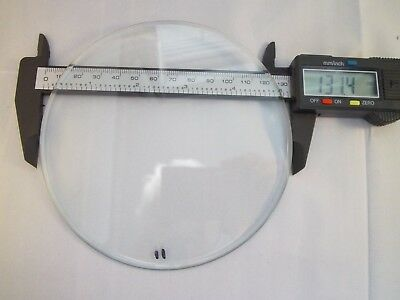 "Replacement bevelled Flat Clock Dial Glass 131.4mm(5 2/10"") diameter 3mm Thick"