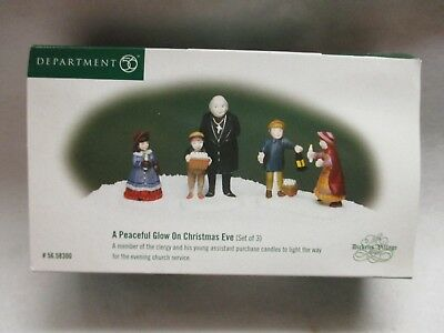 "Dept 56 Dickens Village ""A Peaceful Glow on Christmas Eve""  #56 58300 Set of 3"