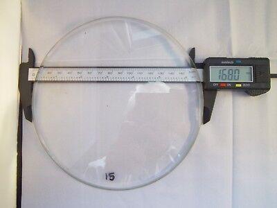 Replacement heavily bevelled Flat Clock Dial Glass 168mm dia.5mmThick