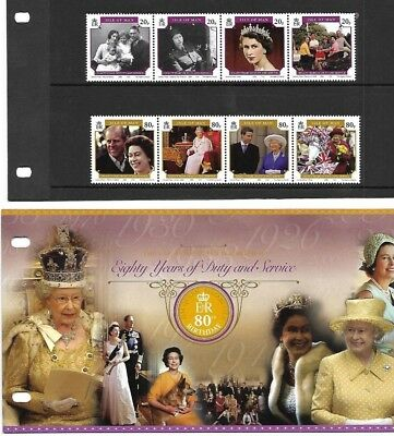 Isle of Man - 80th Birthday of Queen Elizabeth II Presentation Pack - 2006