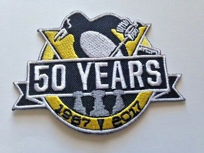Pittsburgh Penguins 50 NHL Jersey Patch PPG Arena Iron On Sew Hoodie Jackets Hat