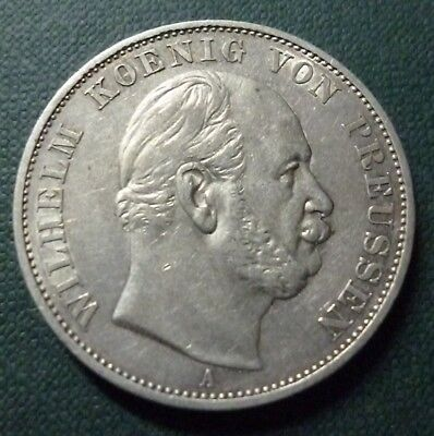 GERMANY SILVER COIN 1 Thaler Victory, KM500 AU 1871A (Prussia)