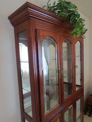 Flawless Pulaski Cherry Collector's Cabinet -  Curio China Cabinet.