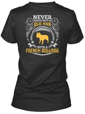 Old Man With A French Bulldog T S - Never Gildan Women's Tee T-Shirt