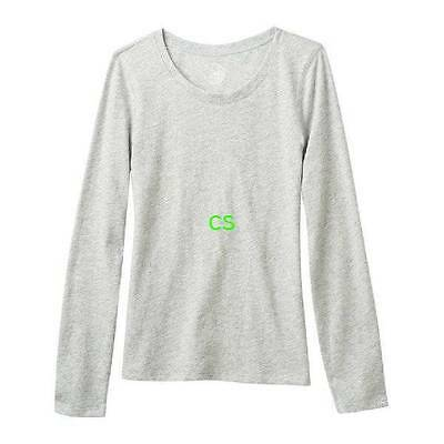 NWT $20-Girls Plus Size SO Light Gray Crewneck Long Sleeve Top-size 20.5